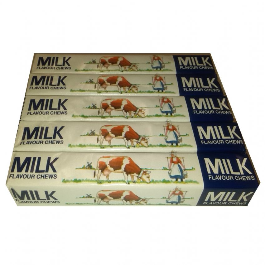 5 x Milk Flavour Chews - Chewy Candy Sweets 41g Each